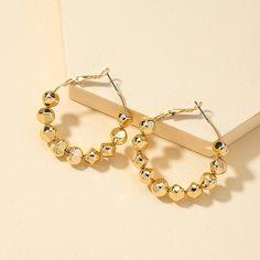 Золотые серьги-кольца Shein
