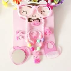 Ювелирные украшения с декором кролика для девочек 12шт Shein