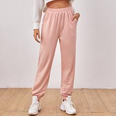 Спортивные брюки с эластичной талией и карманом Shein