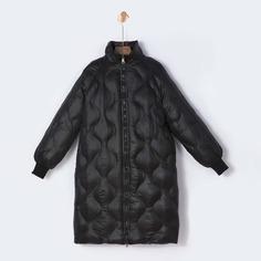 Стеганое длинное пальто Shein