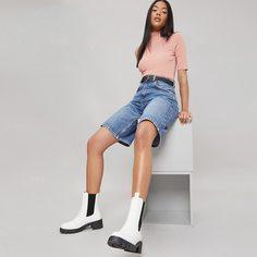 Ботинки челси на низком каблуке из искусственной кожи Shein