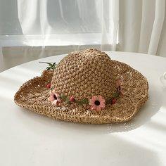 Соломенная шляпа с цветком Shein