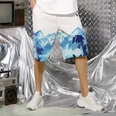 Карман графический принт Отпуск Мужские шорты Shein