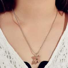 Ожерелье с подвеской в виде медведя Shein