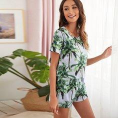 Тропический Повседневный Пижама Shein