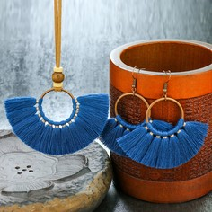 1шт ожерелье с бахромой и 1 пара серьги-подвески Shein