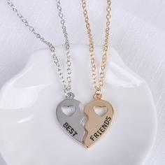 2шт ожерелье с сердечком Shein