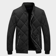 Мужская стеганая куртка-бомбер на молнии Shein