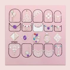 Наклейка для ногтей с кружевным рисунком 1 лист Shein