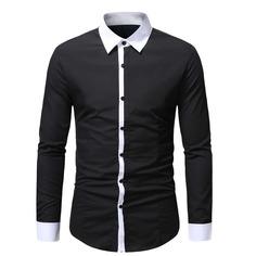 Контрастная отделка Работа Мужские рубашки Shein
