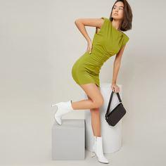 Ботинки на высоком каблуке из искусственной лакированной кожи Shein