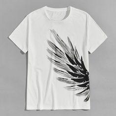 Мужская футболка с коротким рукавом Wings Shein