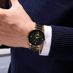 Чёрный Мужские часы Shein