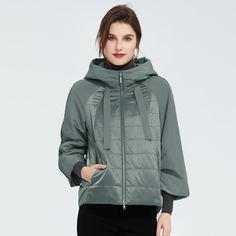 Ватное пальто на молнии с капюшоном Shein