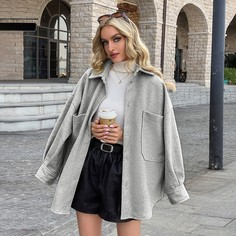 Пальто с карманом Shein