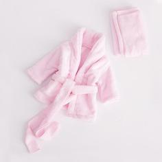 Наряд фотографии халат с поясом и полотенце для мальчиков Shein