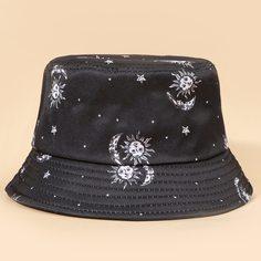 Мужская шляпа с узором солнца Shein