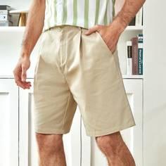Карман Одноцветный Повседневный Мужские шорты Shein