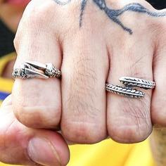 2шт мужское резное кольцо Shein