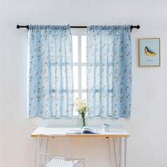 Однопанельная штора с цветочным принтом Shein
