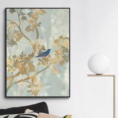Стенная живопись с принтом дерева без рамки Shein