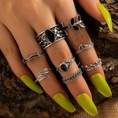 8шт винтажное кольцо Shein