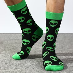 Мужские носки с инопланетным узором Shein