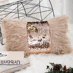 Наволочка для поясничной подушки из искусственного меха без наполнителя Shein