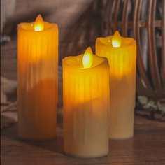 1шт мерцающая беспламенная светодиодная свеча Shein