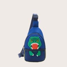 Регулируемый с аппликацией Мультяшный принт Детские поясные сумки Shein