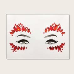 Стикер татуировки в форме глаза с драгоценным камнем 1 лист Shein