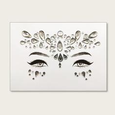 Стикер татуировки в форме глаза со стразами 1 лист Shein