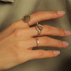 Кольцо с сердечком 3шт Shein