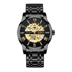 Мужские механические часы со светящейся стрелкой и скелетом Shein