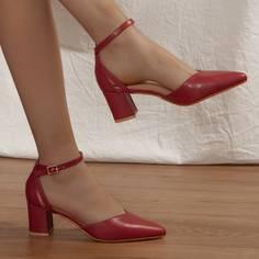 Остроконечные туфли-лодочки на среднем каблуке Shein