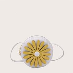 Круглая сумка с цветком для девочек Shein