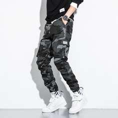 Мужские брюки с камуфляжным принтом и карманом Shein