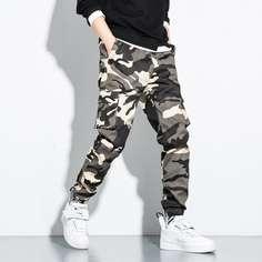 Мужские брюки-карго с карманом и камуфляжным принтом Shein