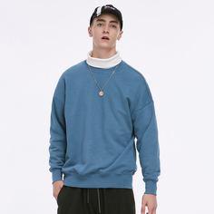 Мужской однотонный пуловер Shein