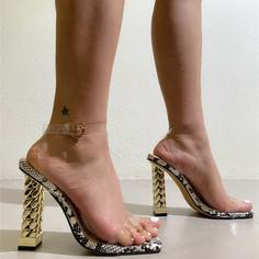 Прозрачные сандалии на каблуке Shein