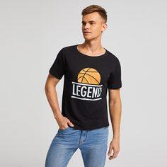 Мужская футболка с короткими рукавами и монограммой Shein