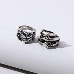 2шт мужское кольцо в форме лапы Shein