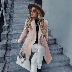 Двубортное пальто Shein
