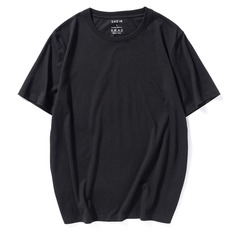 Мужская однотонная футболка с коротким рукавом Shein