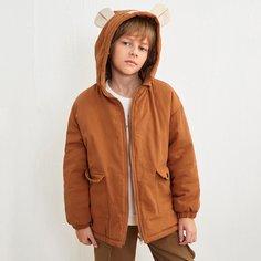 """Однобортное пальто с 3D дизайном """"ухо"""" для мальчиков Shein"""