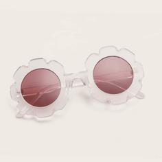 Детские солнечные очки в цветочной оправе Shein