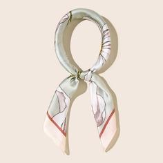 Шелковый шарф с принтом Shein