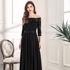 Кружевное плиссированное вечернее платье с открытыми плечами Shein