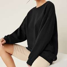 Длинный пуловер оверсайз Shein