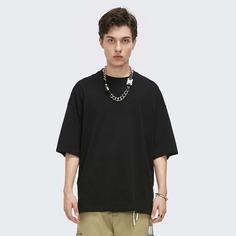 Мужская однотонная футболка с открытыми плечами Shein